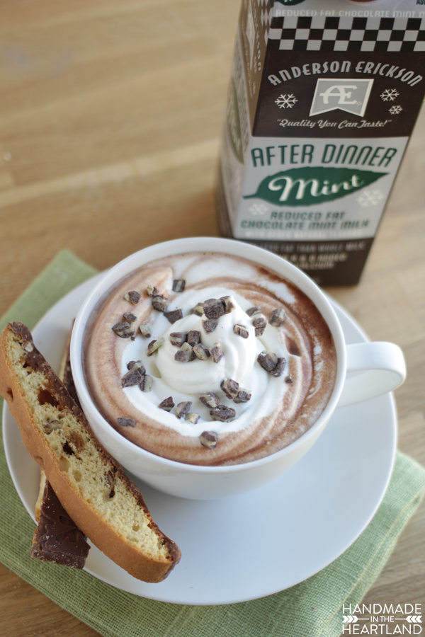 After Dinner Mint Hot Chocolate with AE Dairy