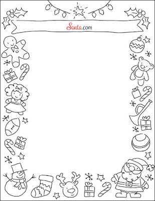 Santa.com Holiday Stationery Printable Letter to Santa Template