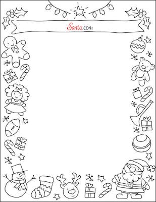 Santa.com Holiday Stationery Printable Letter to Santa Template