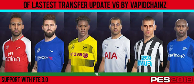 Option File Lastest Transfer Update for PTE Patch 3.0 PES 2018