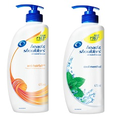 Head & Shoulders Anti Hairfall Shampoo 650ml worth Rs.500 for Rs.250 @ Flipkart