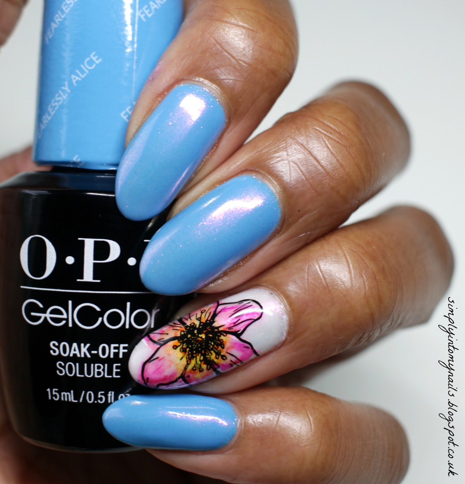 OPI GelColor Fearlessly Alice....Chromed! | Simply Into My NAILS