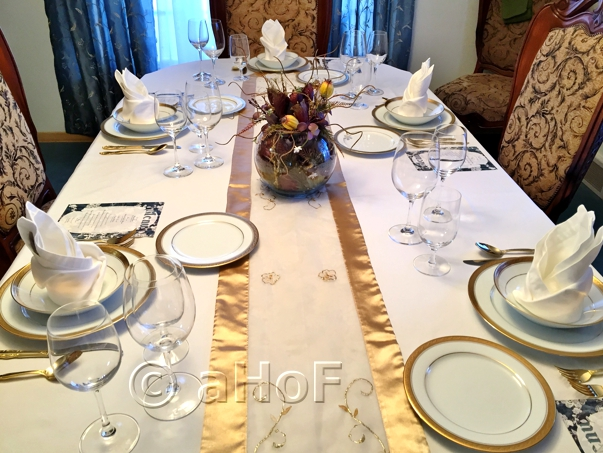 Table Set for Indian Dinner