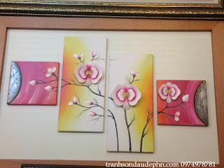 tranh hien dai bo hoa lan
