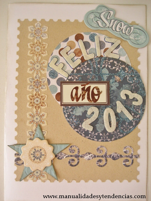 Scrapbooking: tarjeta navideña / Christmas card / carte de Noêl