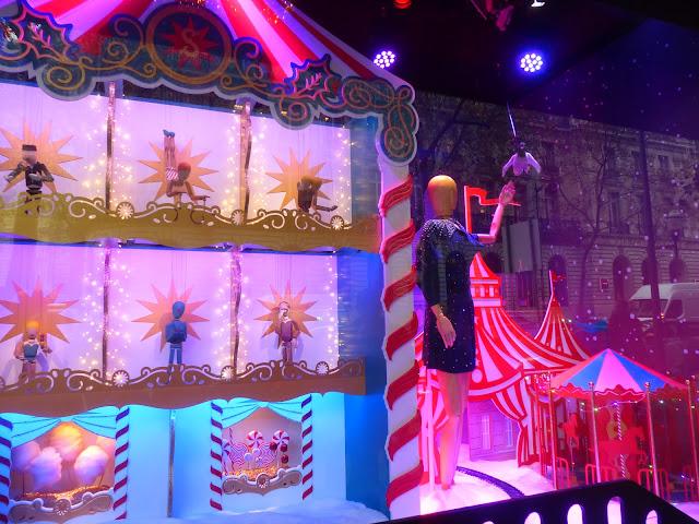 vitrines de Noël Grands magasins