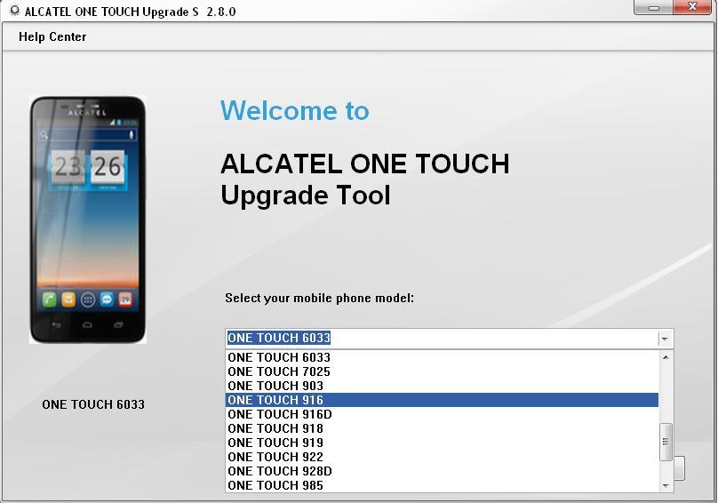 Alcatel y800 firmware upgrade