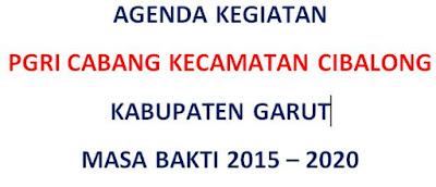 Download Contoh Format Agenda Kegiatan PGRI