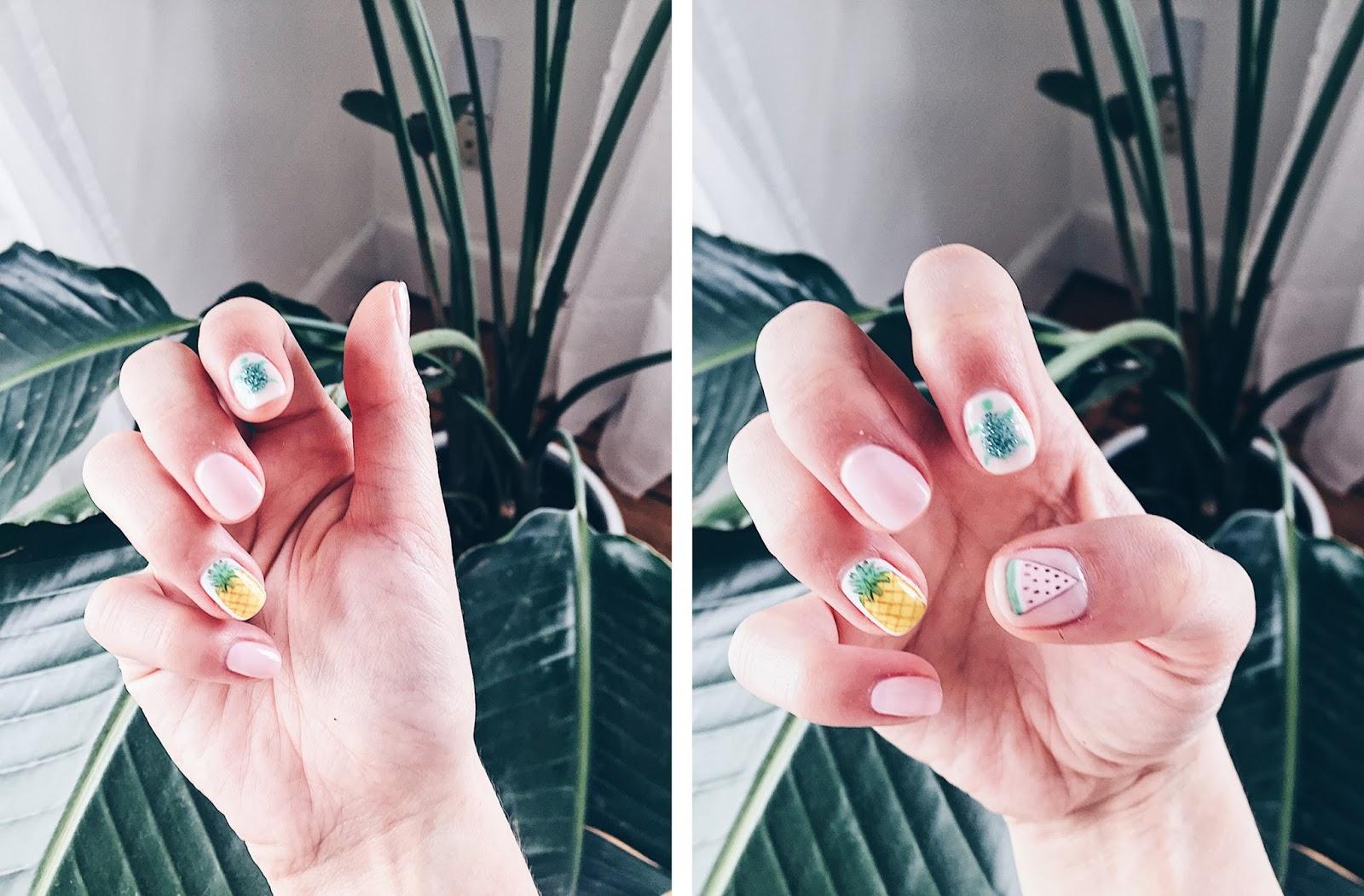 cute tropical nails