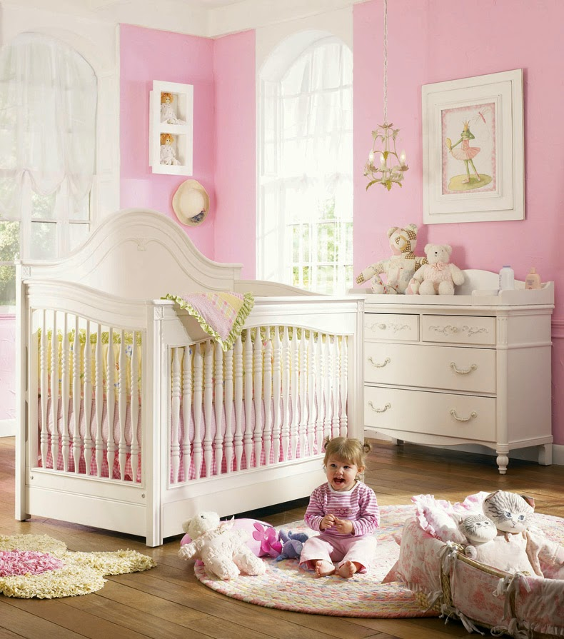 Cuartos de beb s en color rosa y blanco dormitorios - Muebles de colores pintados ...