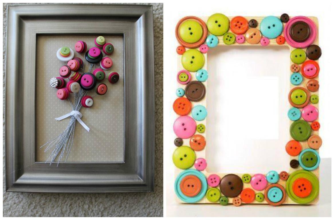 15 ideas de manualidades con botones que puedes hacer hoy - Ideas de cuadros ...