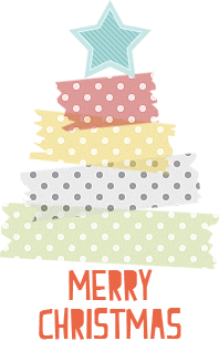 Free for you: Christmas tree con i washi tapes :)