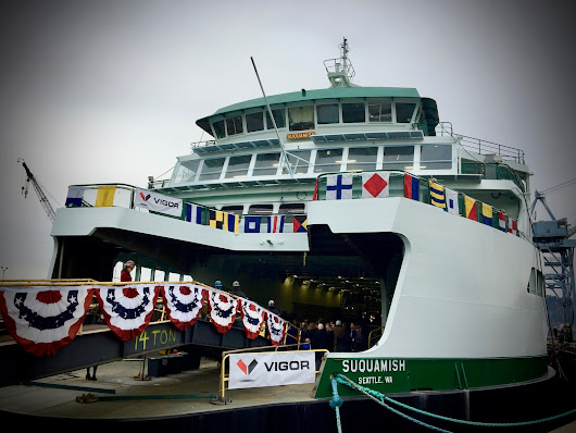 Washington State Ferries christens the Suquamish, Whidbey Island's newest boat