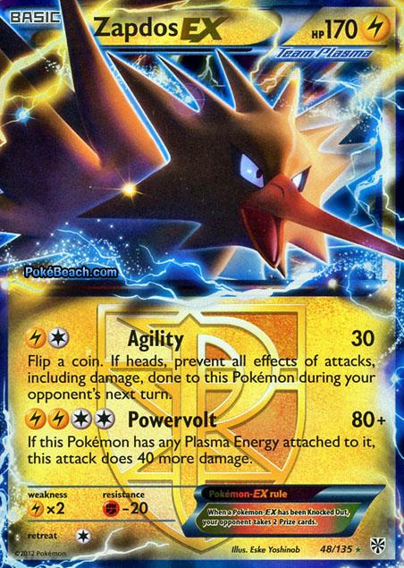 Pokemon Zapdos Ex Card