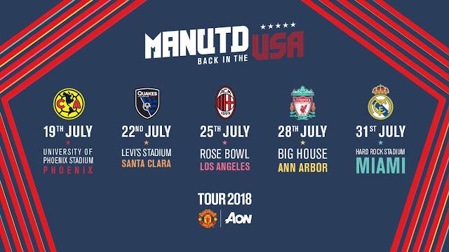Jadwal Lengkap Pertandingan Pramusim Manchester United 2018