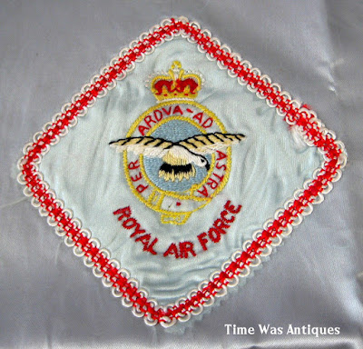 https://timewasantiques.net/products/royal-air-force-raf-wwii-silk-tea-cozy-england-vintage-1940s-unfinished