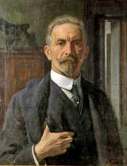 Kaziemierz Pochwalski, Self Portrait, Portraits of Painters, Fine arts, Portraits of painters blog, Paintings of Kaziemierz Pochwalski, Painter Kaziemierz Pochwalski
