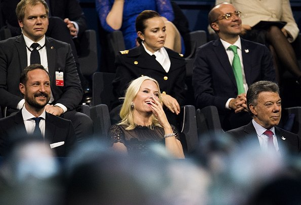 Crown Princess Mette-Marit, Crown Prince Haakon and Colombian President Juan Manuel Santos attend the 2016 Nobel Peace Prize Concert