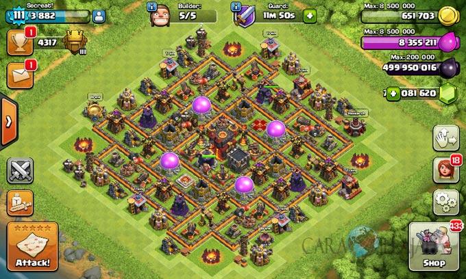 Desain Base Pertahanan Terbaik Untuk Base War TH 10 Update Terbaru 29
