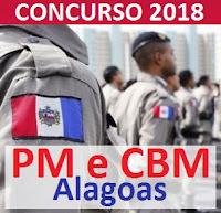 Concurso PM-AL e CBM-AL 2018