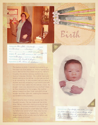 Vintage Baby Scrapbook Layout
