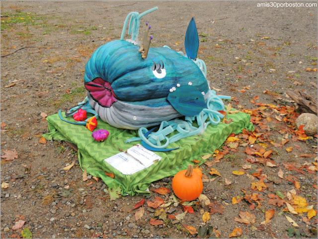 Calabazas Decoradas para Halloween: Ballena Azul