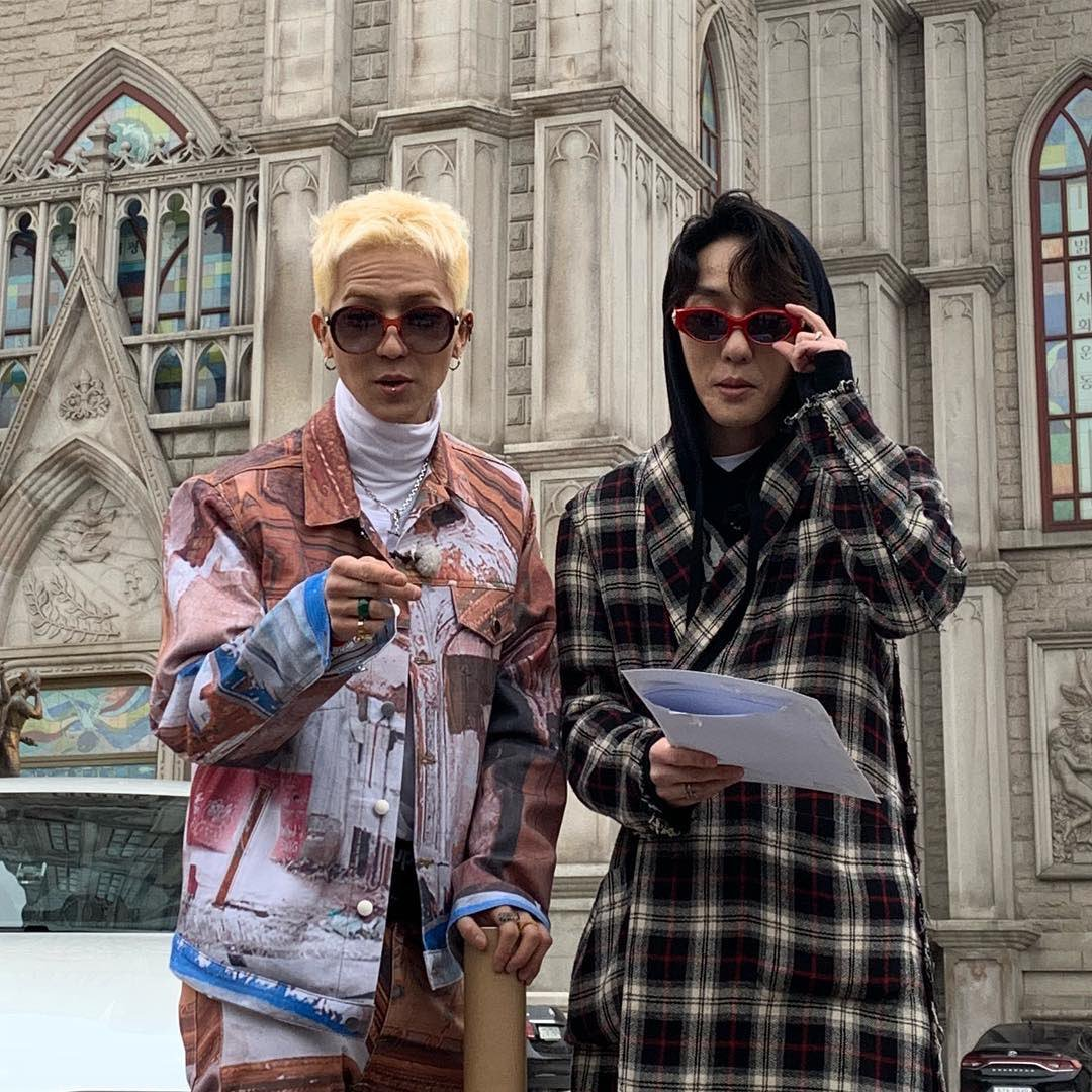 190325 MINO was spotted filming a show with Zion T.!