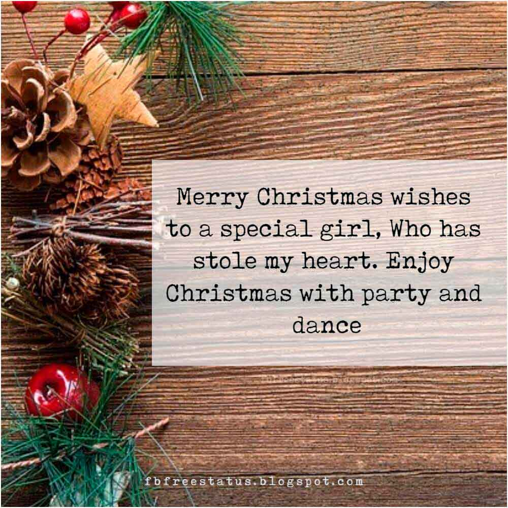 Merry Christmas Messages, to Boyfriend, Girlfriend, Wife, or Husband.