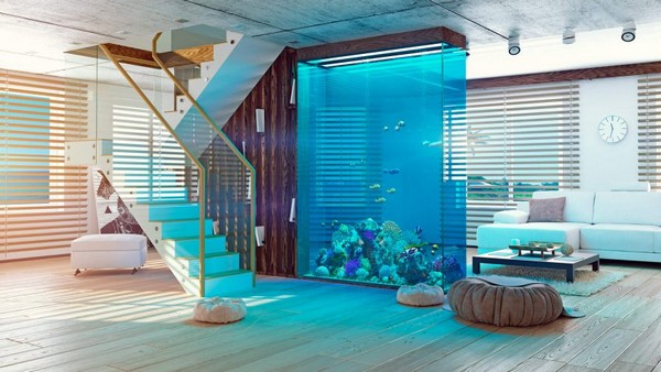 Lastest Home Designs Aquarium Designs In Home