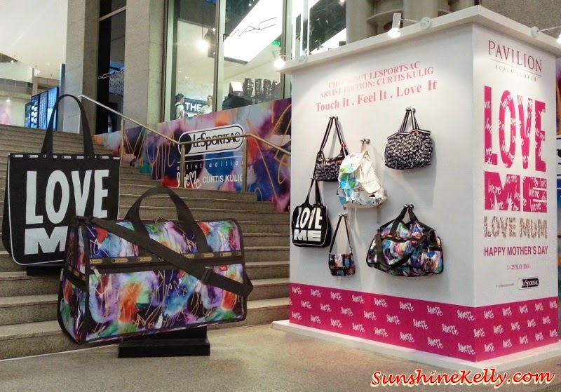 Love Me, Love Mum, Curtis Kulig, new york street artist, street art, Pavilion KL, LeSportSac, LeSportSac Summer 2014 collection, Love me bags
