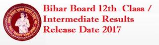 Bihar Board 12th Class Results 2017