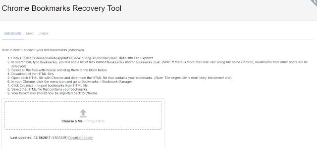 حل مشكلة حذف المفضلة Bookmarks إستعادة المفضلة Bookmarks من المتصفح