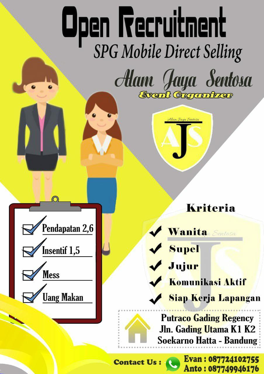 Lowongan Kerja PT. Alam Jaya Sentosa Januari 2019