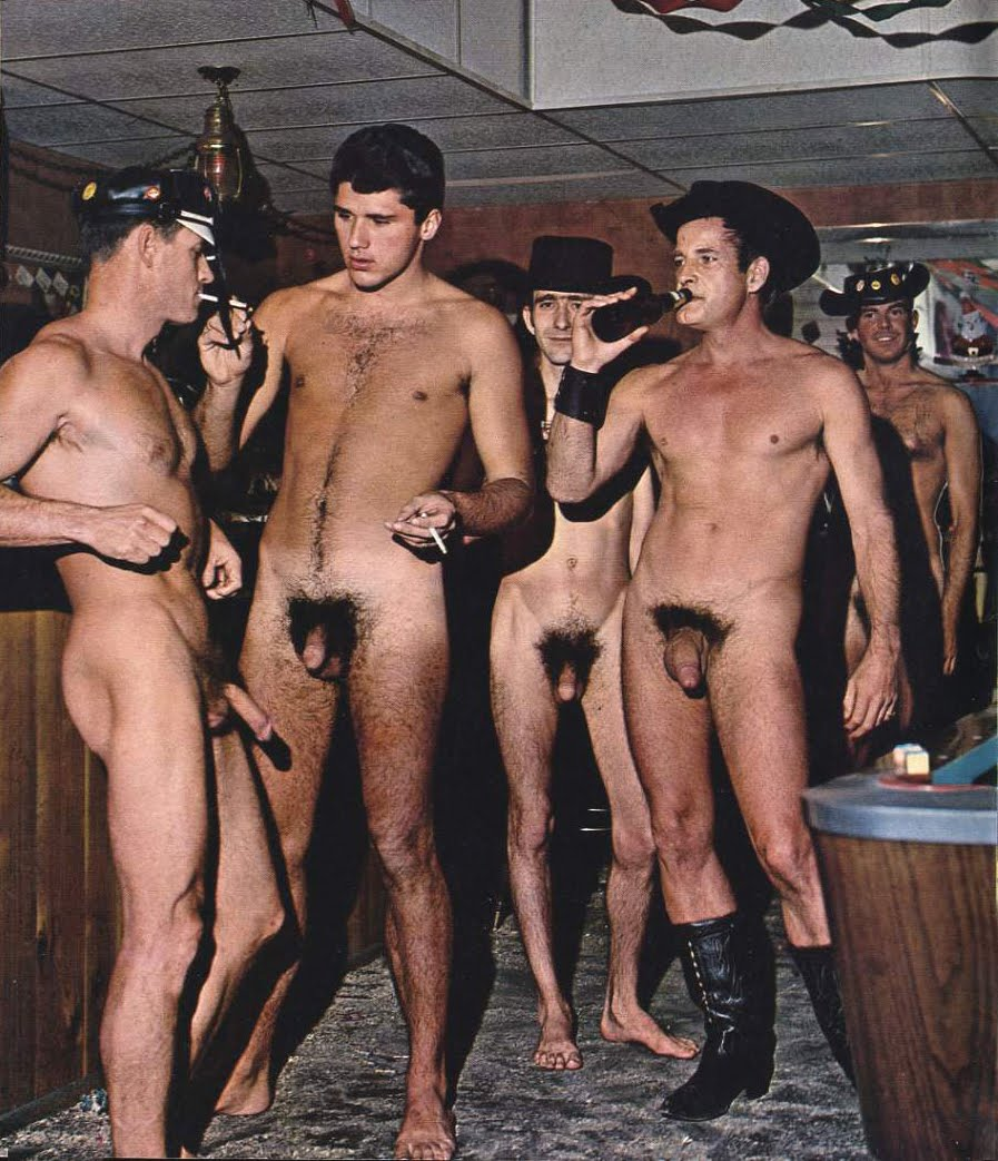 Naked nude male camping men