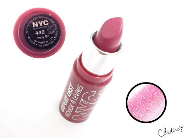 New York Color Expert Last Lipstick Swatch Review 442 Berry Me