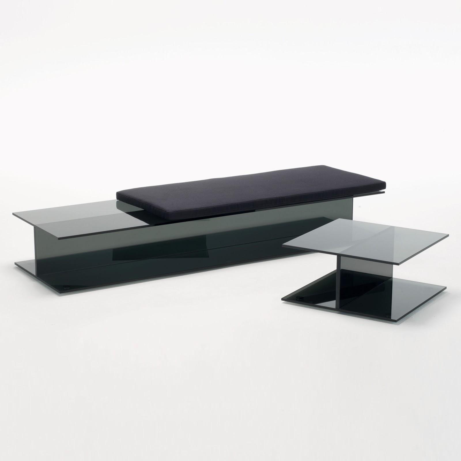 glas italia minimalist black i beam ultra modern entryway