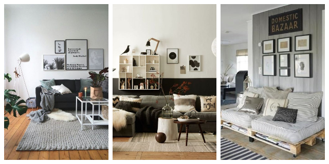 DECORATING WITH WHITE BLACK AND GREY