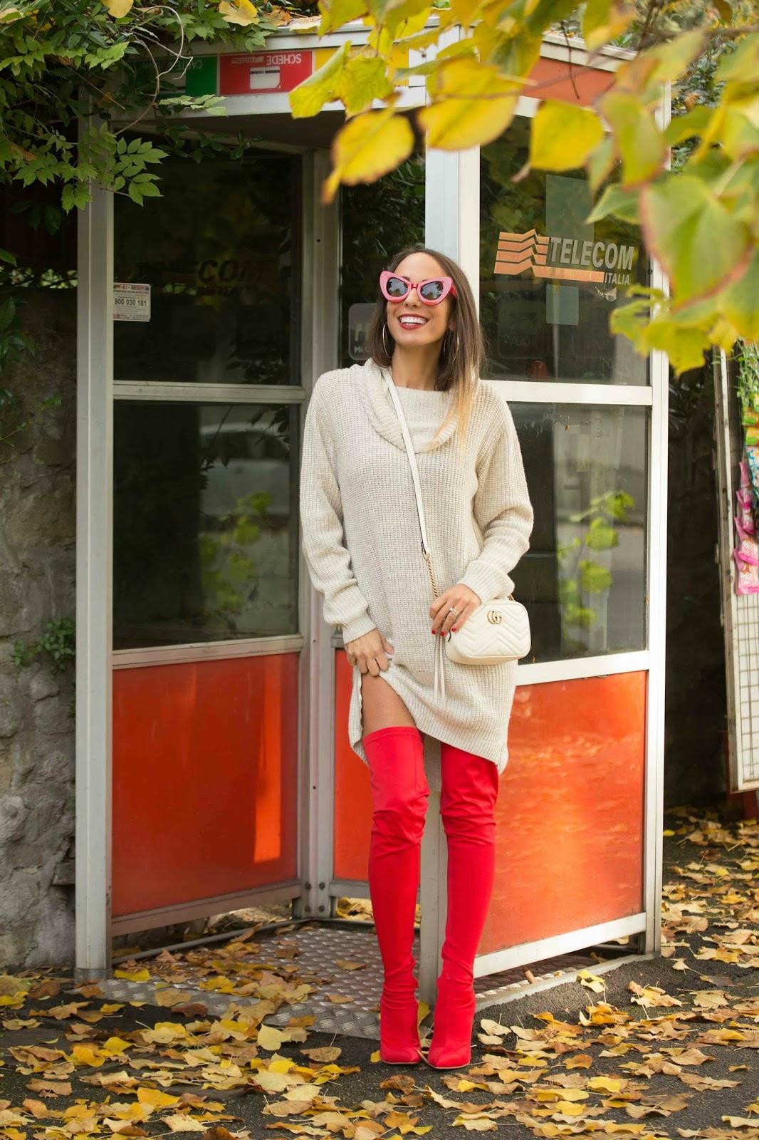 come indossare stivali rossi