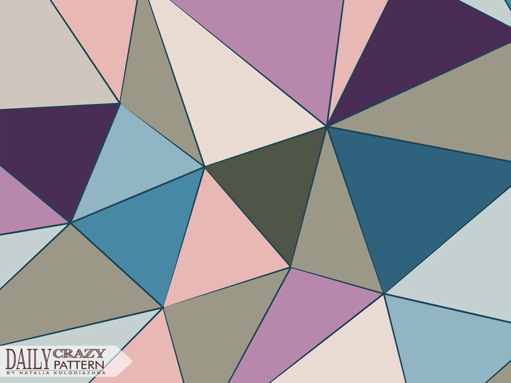 "Low polygons, pattern for ""Daily Crazy Pattern"" project"