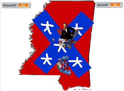 Abraham Lincoln Braviary Capture the Confederate Flag game Fury Attack Mississippi