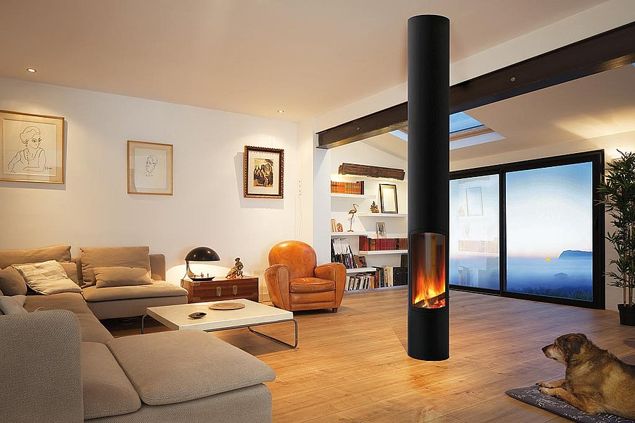 Casas modulares y prefabricadas de dise o chimeneas de - Chimenea de diseno ...