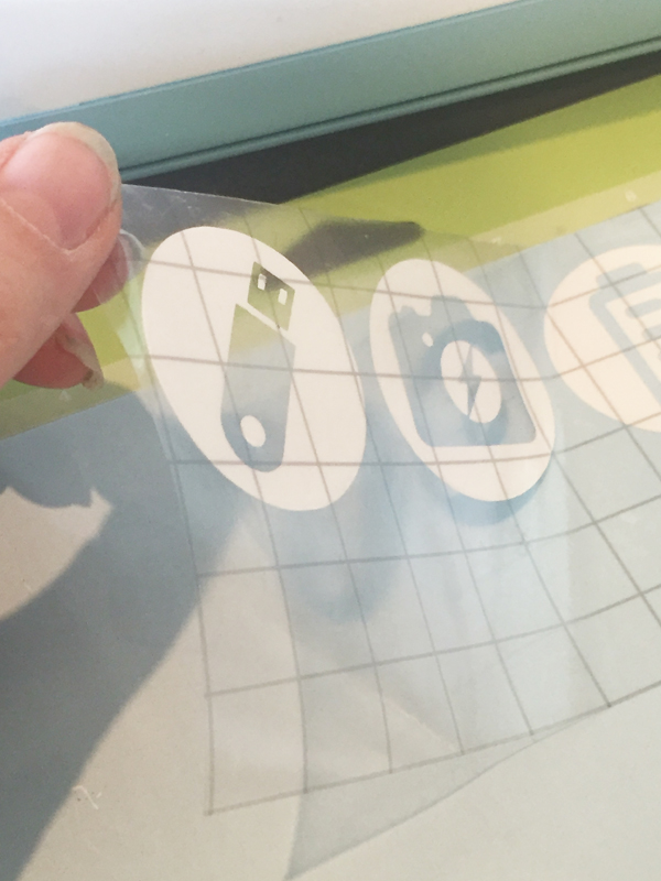 Using Cricut Transfer Tape for Icon Labels