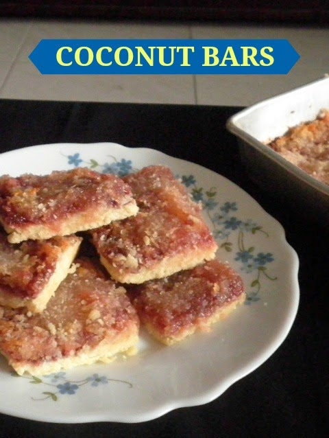 Coconut Bars Recipe @ treatntrick.blogspot.com