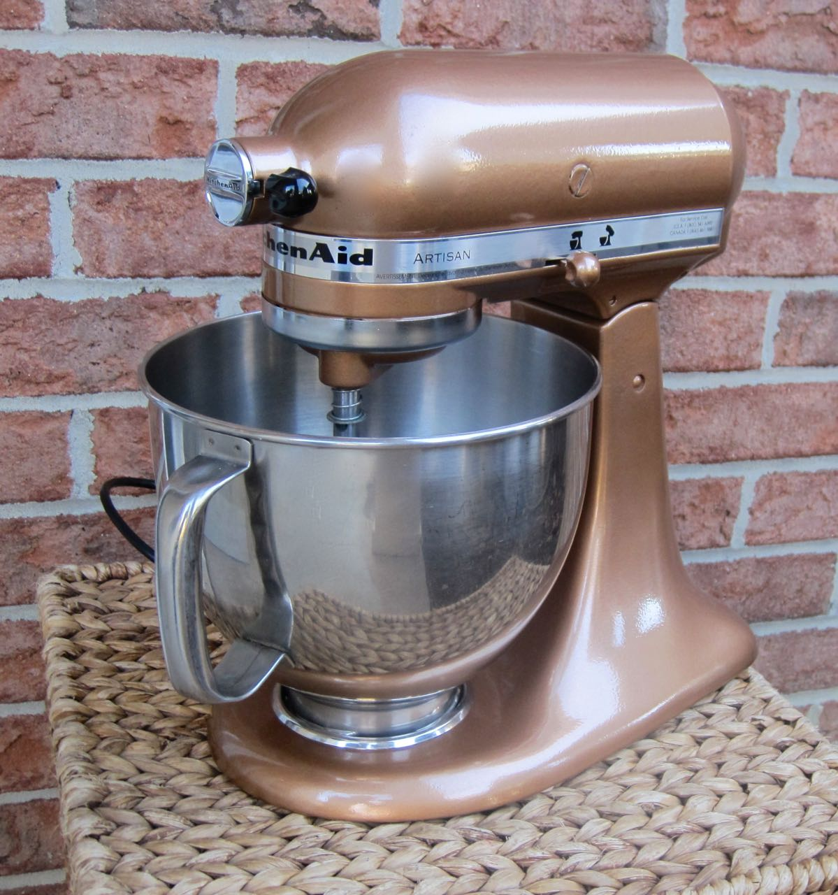 copper kitchen aid mixer corner sink cabinet the project lady spray paint your kitchenaid