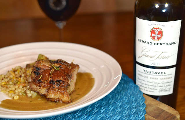 Gérard Bertrand Grand Terroir Tautavel Grenache-Syrah-Carignan with Saucy Lamb Loin Chops