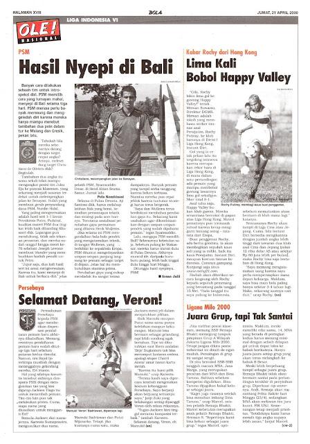 LIGA INDONESIA VI: PSM HASIL NYEPI DI BALI