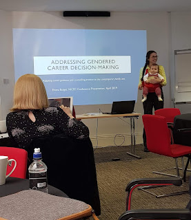 mum with baby presenting at conference