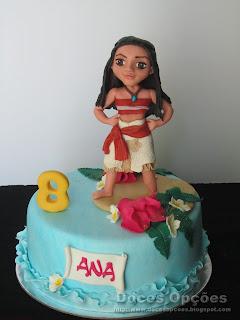 A Vaiana no 8º aniversário da Ana