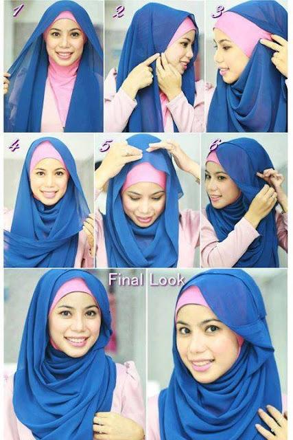 Tips Aplikasikan Hijab Pashmina Chifon Modern