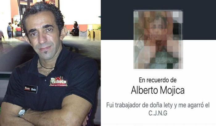 """Fotos """"Por jugarle al valiente"""", CJNG descuartiza a operador de """"Doña Lety""""; lo exhibe a través de facebook,"""